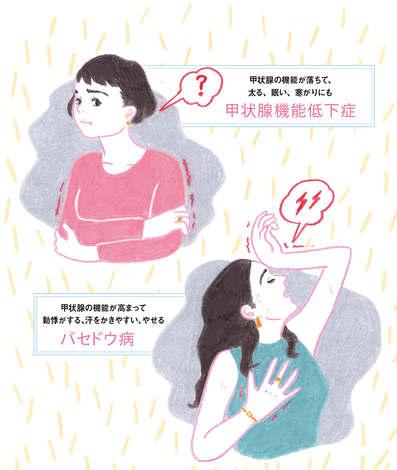 低下 症状 チェック 機能 甲状腺 症